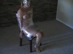 Lady Chair tied with Clear tape