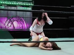 Wrestling Brooke vs. Holly: Low Blow Lezdom w/ Cuntbusting & Humiliation