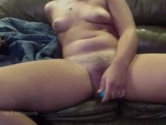Girl masturbates with dildo and squirts on Skype