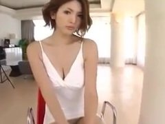 Av model mai hanano can't hide panties in this minidress while photographed