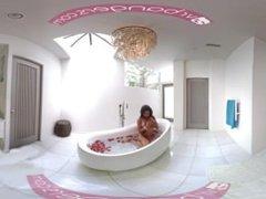 VRBANGERS Brazilian babe masturbates in the bathtub