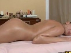 Blonde fucked on a massage vibrator - From Emelie