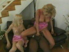 Blondes on big black cock