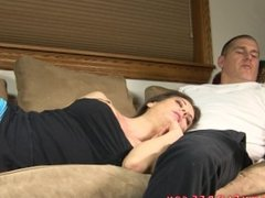 Sleeping sister admits she wants to fuck brother... and does