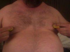 Bear working nips... pumps, clamps, belly, beard
