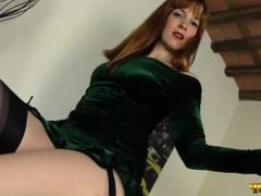 JOI by a RedHead in RHT stockings (Irina Vega)