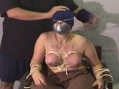 Fuck pig getting her tied tits worked over