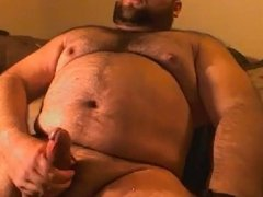 Big hairy bear jerking off