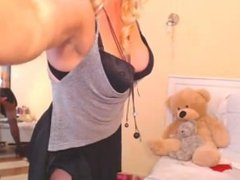 mature blond teases and dances on webcam pantyhose stockings - www.fapfap