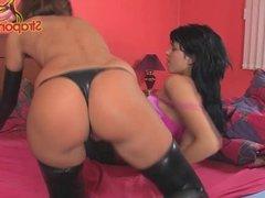 StraponCum: Kinky Girls. Part 1 of 4. Latex..