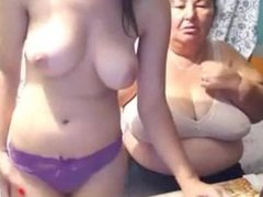 Cute Teen With Granny Doing Webcam Chat