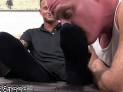 Teen boy barefoot feet gay first time Dev Worships Jason James' Manly Feet