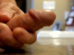 An ooey gooey close-up wank