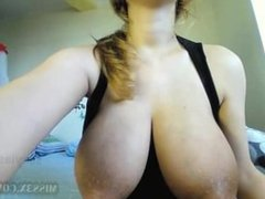 Milky boobs and wet pussy