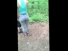 Blonde hiker with a sexy ass