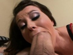 Sara Stone taking a HUGE cock