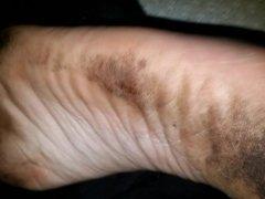 Cumming on my girlfriend's feet #3
