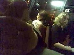 Jack Off On Bus