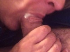 Wife sucks the cum out
