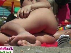 Hairy Pussy Nudist MILFs Beach Voyeurhd Video