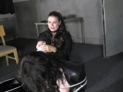 domme tied by rival domme