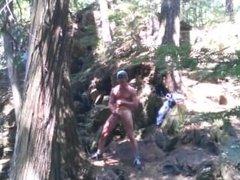 Forest voyeur jerking off #4