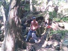Forest voyeur jerking off #3