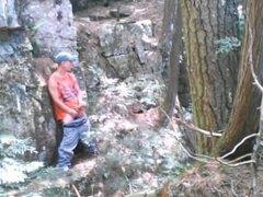 Forest voyeur jerking off #8