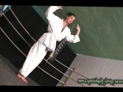 Female Karate Teacher Punishes Impudent Student