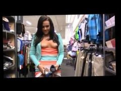 Girl Masterbates in Shoe Store