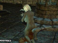Hot 3D Ebony Elf Babe Gets Fucked