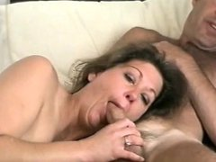 MILF likes to suck cock till cum shot the whole video not a clip