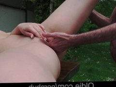Young Russian Blonde Lick the Ass of an Old Bone