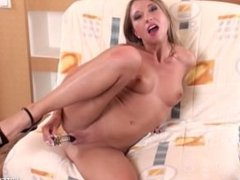 Teen Uses A Big Toy On Her Tight Pussy