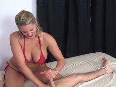 controlling big tits handjob