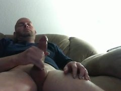 Wanking and cumming on the couch