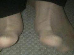 My Horny Nylon Feet at the Ground