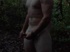 Straight Beefy Stud Jerks Off in The Woods