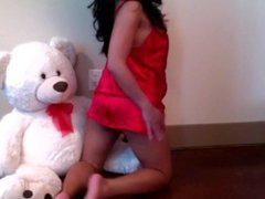 SEXY BRUNETE MASTURBATE IN FRONT OF A TEDDY BEAR - find more on CAMS444.COM