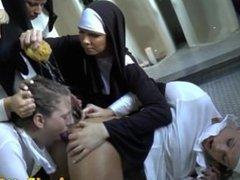 Anal fetish nuns gagging