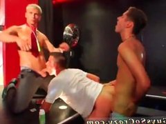 Gay sexy group of males wanking their penises first time As the club