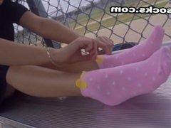 Foot fetish Latina in socks