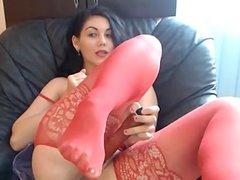 Italian Teen sexy in Red lingerie