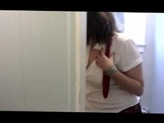 Young School Girl Redhead Maddie Pees and Pisses on Her White Frilly Socks