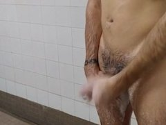 Chatting and Wanking in the Lockerroom Shower