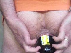 Beer Bottle Deep In Ass