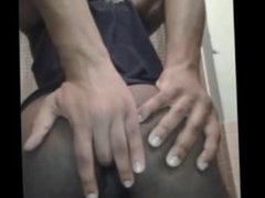 Black ass and lubed up fingered hole