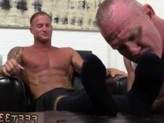 Sexy light skin gay guy first time Dev Worships Jason James' Manly Feet