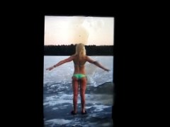 Emilia Pikkarainen's ass cum tribute 4