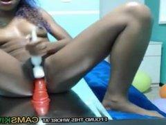ebony anne bouncing on a dildo - www.faptime.top